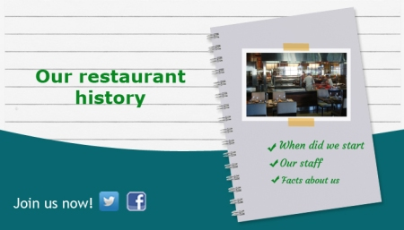 Guide to using Facebook for restaurants and bars - describe restaurant history