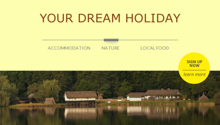 Dream holiday template