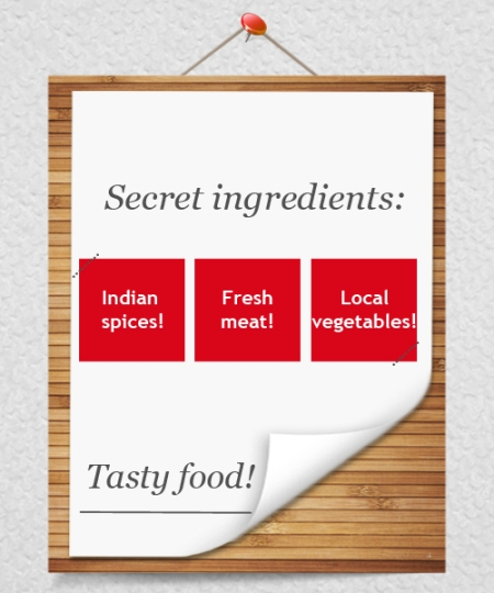How restaurants are using Facebook - describe special ingredients used in recipes