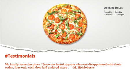Marketing using Facbeook for restaurants - using testimonials
